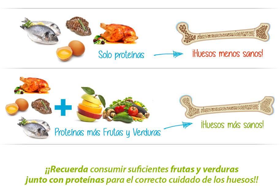 Proteínas y salud osea