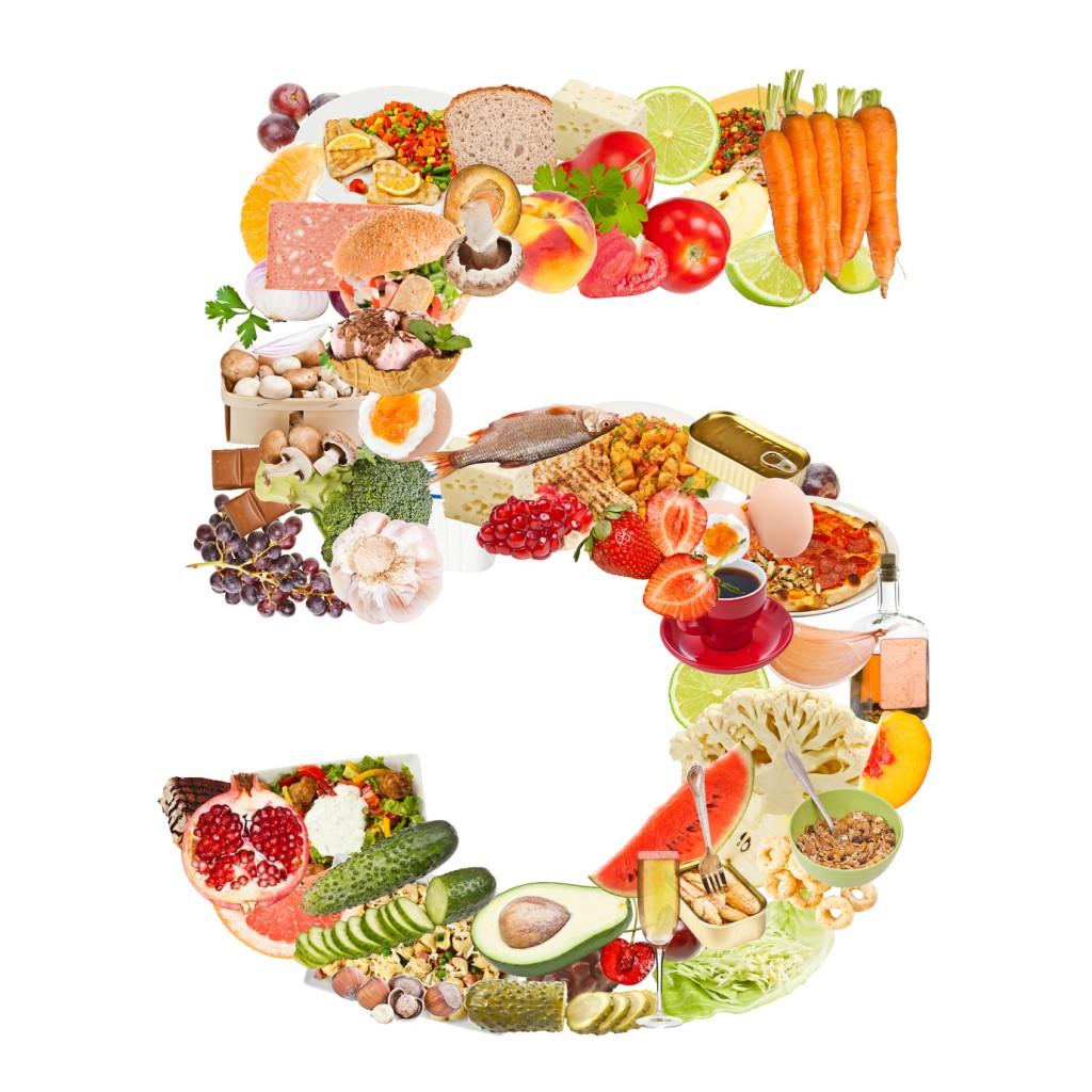 5 frutas y verduras