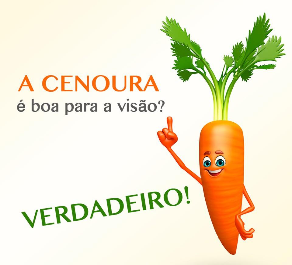 A cenoura contém betacarotenos, uns pigmentos que o nosso organismo transforma em vitamina A. Esta vitamina ajuda a preservar a saúde visual e a prevenir problemas de visão.