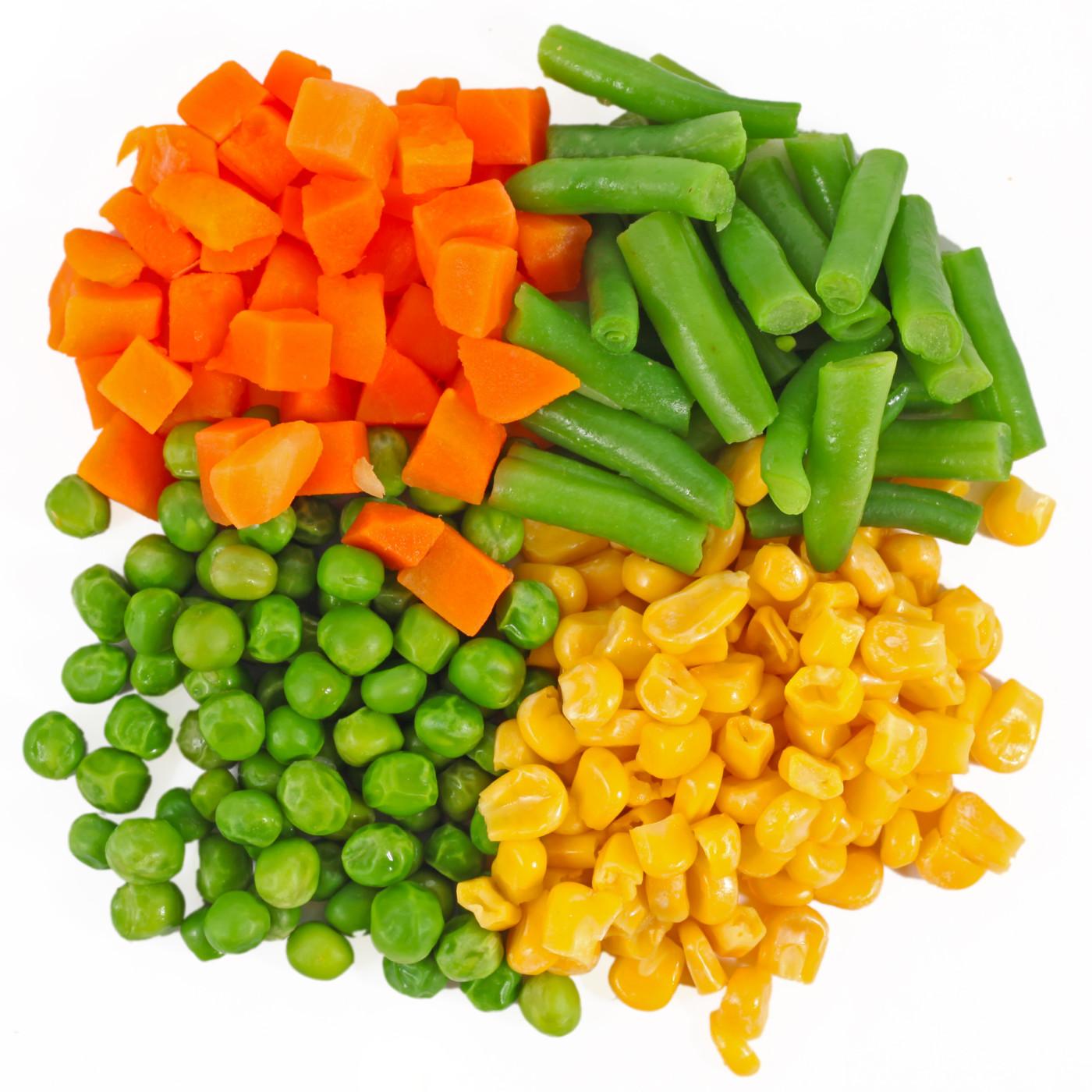 vegetales congelados y cortados