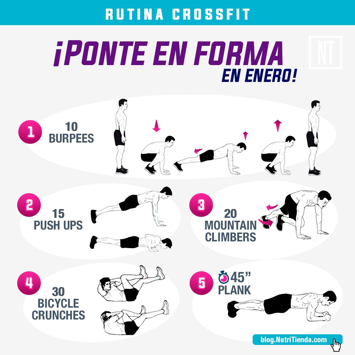 Rutina de Crossfit: ¡Ponte en forma en enero!